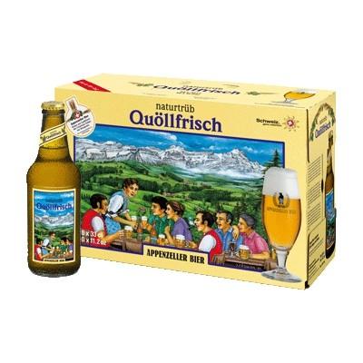Quöllfrisch - Non-Filtered Premium Lager Beer (10 x 33 CL)