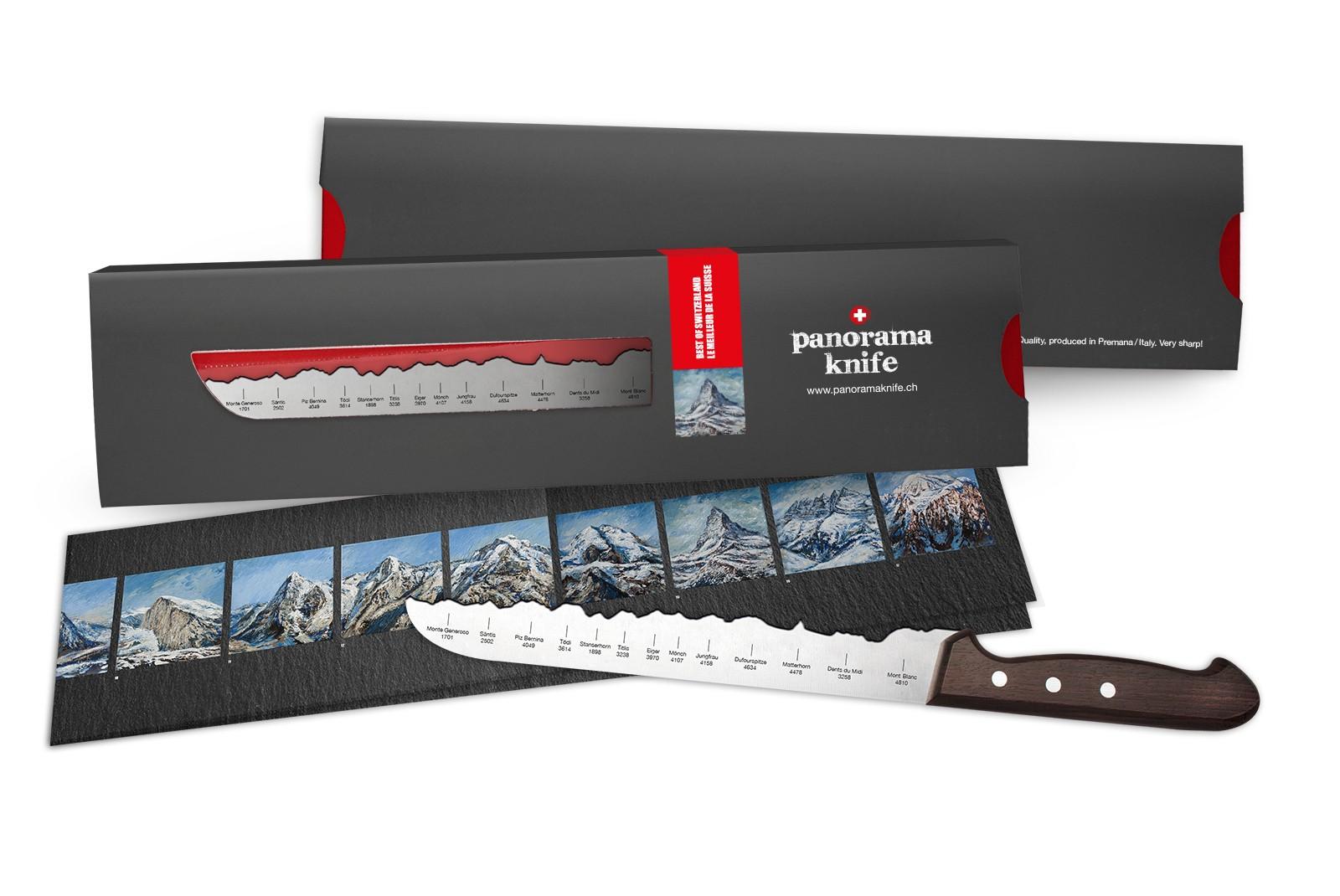 "PanoramaKnife - Bread Knife ""Best of Switzerland"""