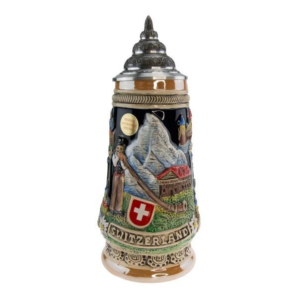 Bierstein with Swiss Traditional Motif