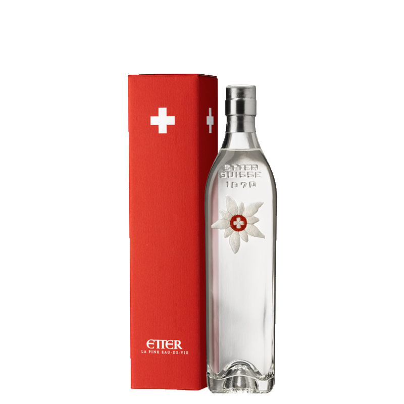 "Etter - Original ""Zuger Kirsch"" in Edelweiss Gift Package (35 CL)"
