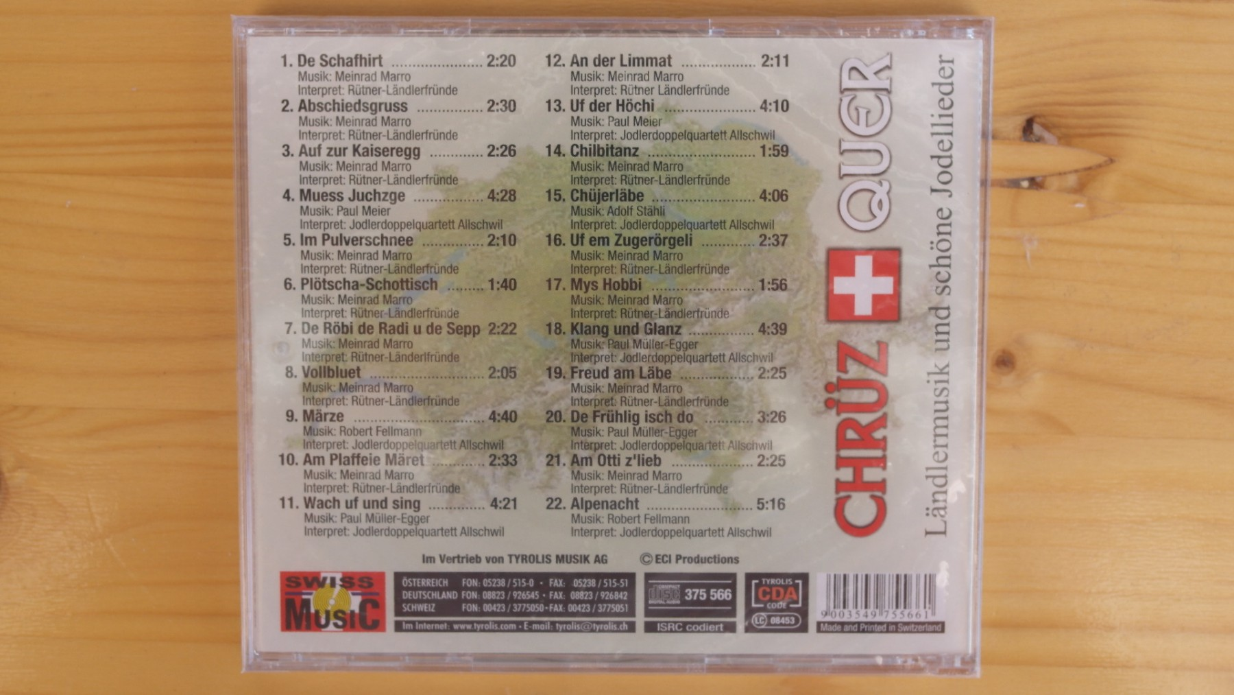 Ländler Music and Traditional Swiss Jodel-Songs CD