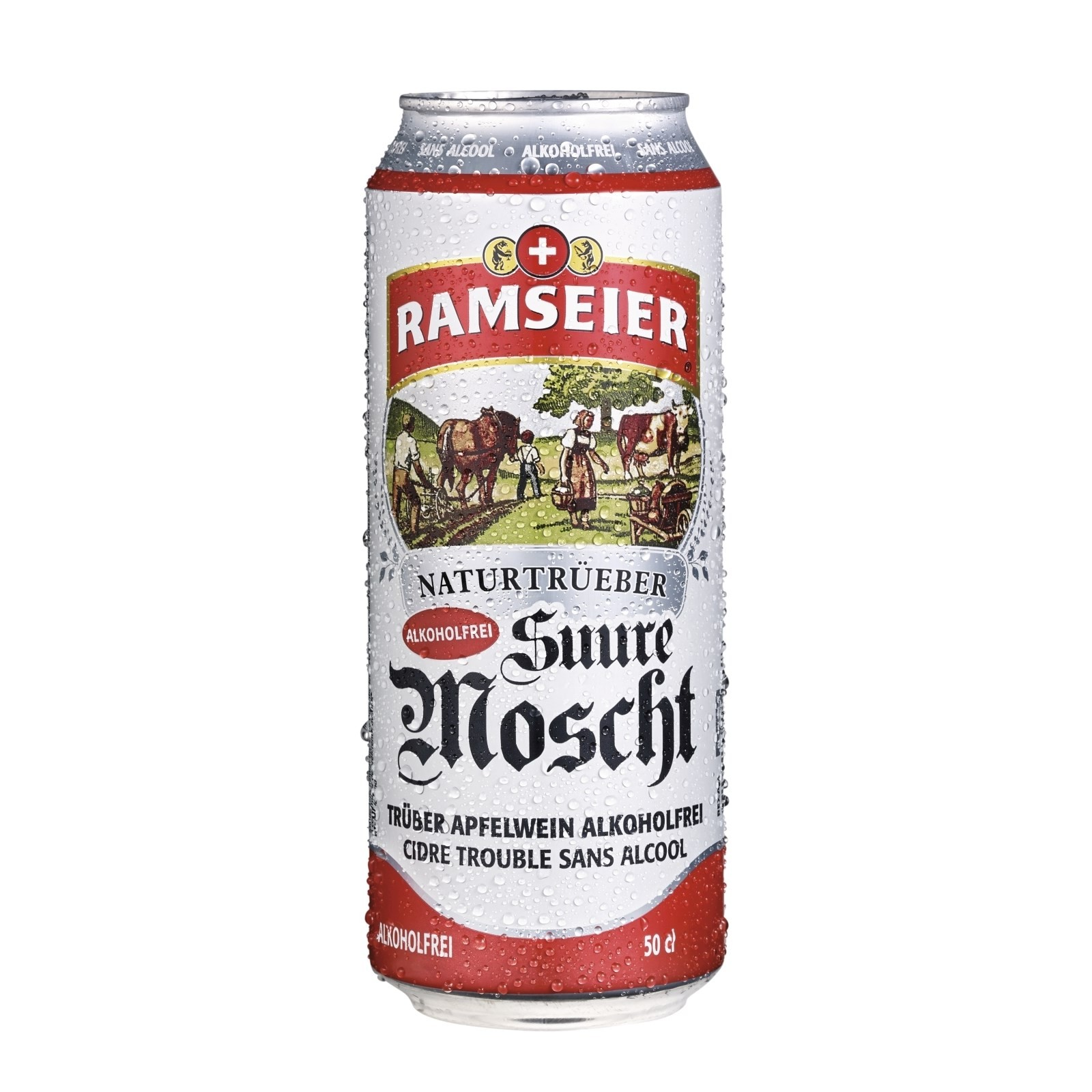 Ramseier – Apple Cider 'Suure Moscht naturtrüeb' Non-Alcoholic (6 x 0.5 l)