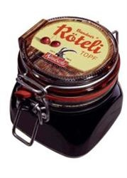 Kindschi - 'Röteli Chriesi Topf' Cherry Jar (gross wt 670 g)