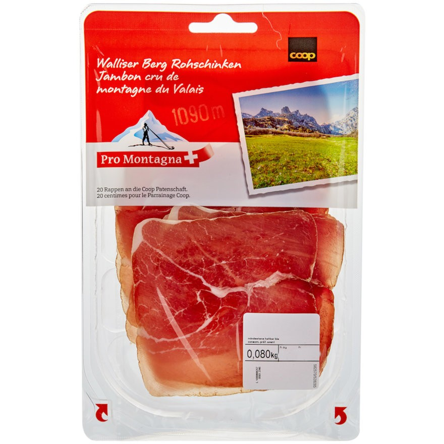 Walliser Berg Rohschinken - Dry-Cured Ham (ca. 80 G) ***Pre-Order Item***