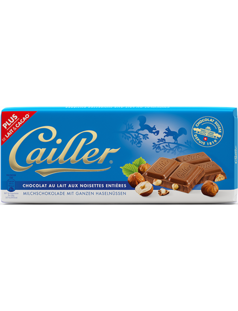 "Cailler - Hazelnut Chocolate 'Noisettes"" Bar (100 g)"