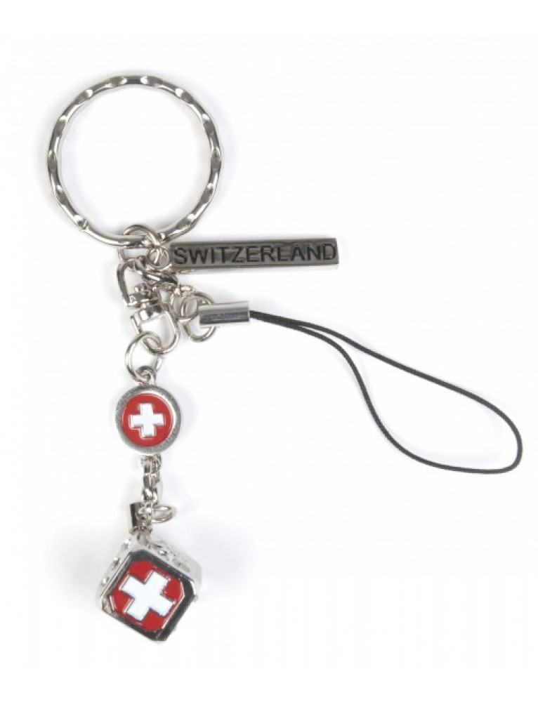 Alpine Club - Key-Chain Edelweiss Dice and Rhinestones