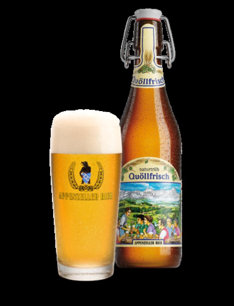 Appenzeller Bier - 'Quöllfrisch Naturtrüb' Non-Filtered Premium Lager Beer (0.5 L)