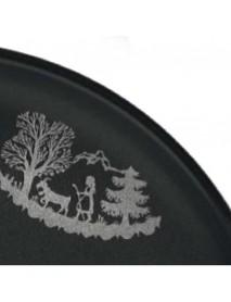 """Stöckli - Fondue Plate """"Alpaufzug"""" (Set of 6 Plates)"""