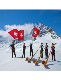 Alpine Club - Magnet Edelweiss Traditional Swiss Theme
