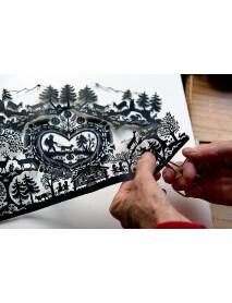 Edelweiss - Compact Mirror 'Scherenschnitt'