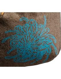 KarlenSwiss - Silkscreen Print Swiss Army Blanket / Flower Pouch Shopping/Shoulder Bag