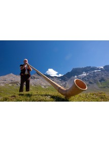 Trauffer - Wooden Alphorn Musician