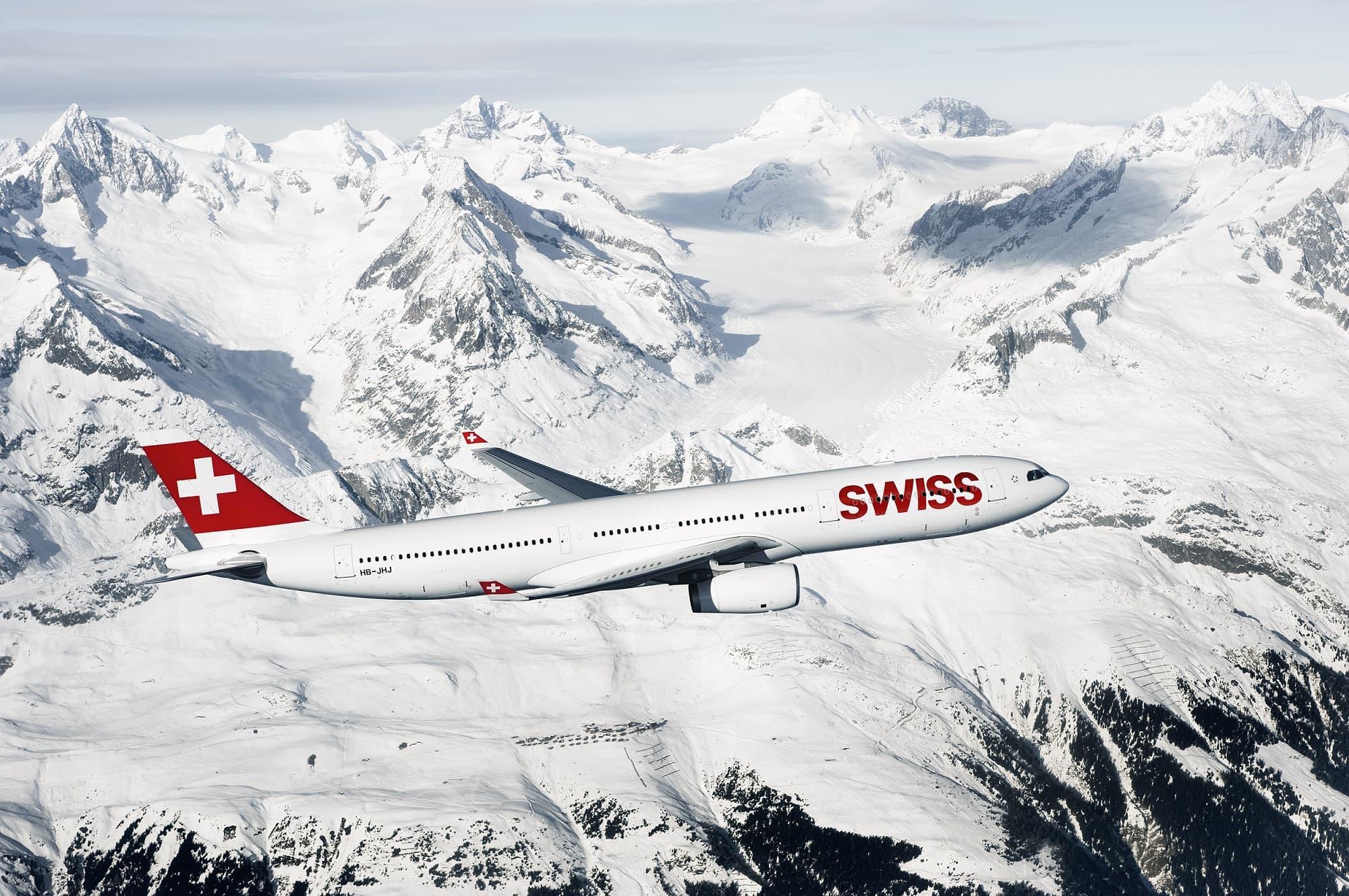 Swiss B777 Alps